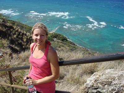 At the top of Diamond Head
